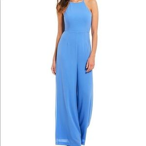Wide leg blue jumpsuit, Gianni Bini, Large